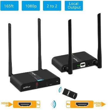 Gofanco Wireless HDMI Extender Multi-Channel HDMI Wireless Kit, 1080p 165ft (50m)