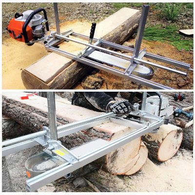 CO-Z Portable Chainsaw Mill Planking Milling 14 Inches to 24 Inches Guide Bar