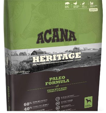 ACANA Paleo Dry Dog Food 25 Lb. Bag. with Fresh Wild Boar, Turkey & Rabbit Grain Free Dog Food