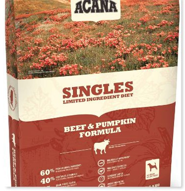 ACANA Beef & Pumpkin Dry Dog Food 25 Lb. Bag. (with Fresh Angus Beef and Pumpkin) Grain Free Dog Food