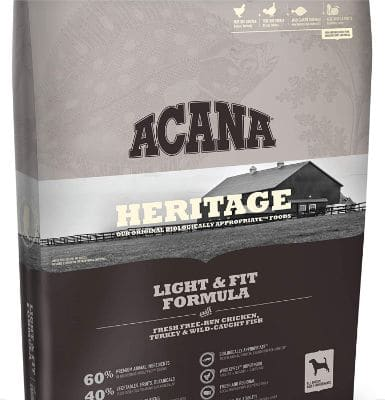 ACANA Light & Fit Dry Dog Food 13 Lb. Bag. with Fresh Free-Run Chicken