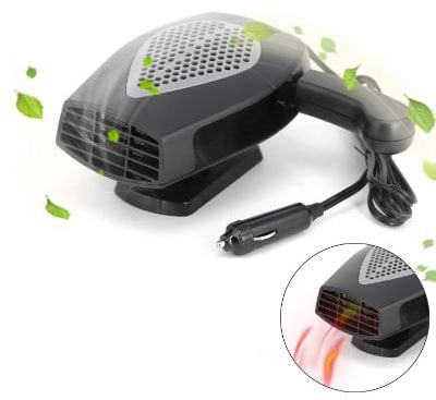 12V Portable Car Heater or Fan - Cooling Car Space & Fast Heating Defrost Defogger Space