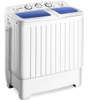 Giantex Portable Mini Compact Twin Tub Washing Machine 17.6lbs Washer Spain Spinner Portable Washing Machine