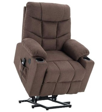 Mcombo Electric Power Lift Recliner Chair Sofa for Elderly, 3 Positions, 2 Side Pockets