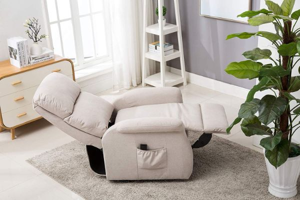 Bonzy Home Lift Chair, 3 Position & Side Pocket, Soft Fabric Power Recliner with Remote