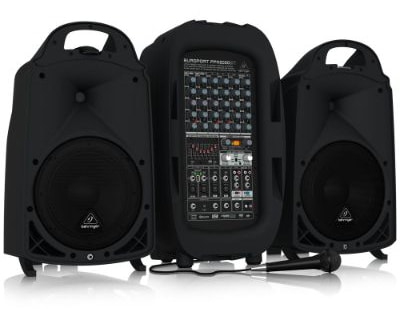 BEHRINGER, 8 PPA2000BT Ultra-Compact 2000-Watt 8-Channel Portable Pa System