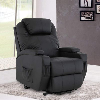 Mecor Power Lift Chair Recliner for Elderly Electric Lifting Chair Bonded Leather Sofa Chair
