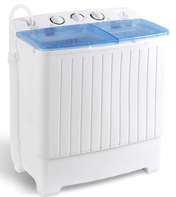 SUPER DEAL 5th Generation Mini Compact Twin Tub Washing Machine