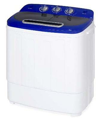 Best Choice Products Portable Compact Lightweight Mini Twin Tub Laundry Washing Machine and Spin Cycle