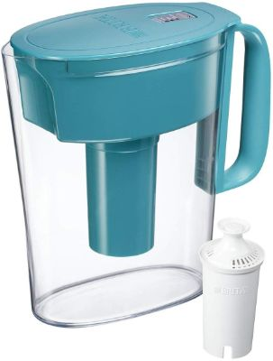 Brita Small 5 Cup Water Filter Pitcher with 1 Standard Filter, BPA Free