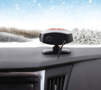Car Heater Car Windshield Defogger Defroster 12 Volt 150W Auto Heating Fan 3-Outlet 30 Seconds Fast Heating Demister