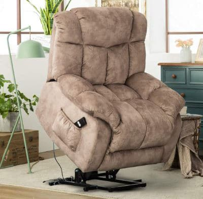 CANMOV Power Lift Recliner Chair - Heavy Duty and Safety Motion Reclining Mechanism