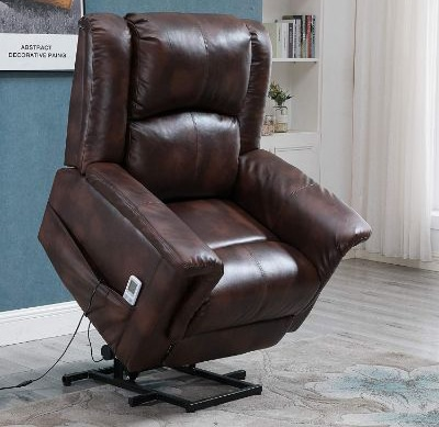 Esright Power Lift Chair Electric Recliner for Elderly PU Leather Heated Vibration