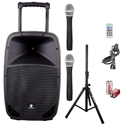 PRORECK FREEDOM 15 Portable 15-Inch 800 Watt 2-Way Rechargeable Powered Dj:PA Speaker System