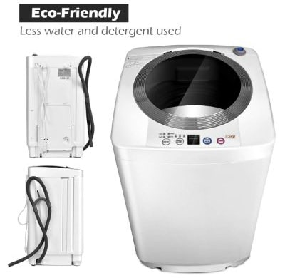 Giantex Portable Compact Full-Automatic Laundry 8 lbs Load Capacity Washing Machine