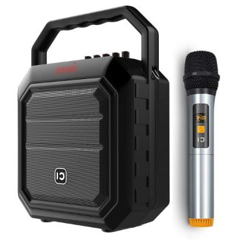 Portable Voice Amplifier with Wireless Handheld Microphone PA System