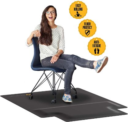 Office Chair Mat with Anti Fatigue Cushioned Foam