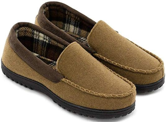 Men's Comfy Micro Wool Moccasin Slippers