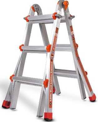 Little Giant 10101LG 300-Pound Duty Rating Ladder System, 11-Foot