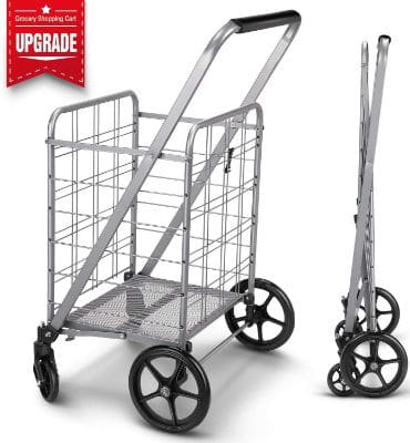 Newly Released Grocery Utility Flat Folding Shopping Cart