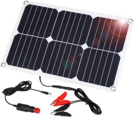 SUAOKI 18V 12V 18W Solar Car Battery Charger Portable Solar Panel Trickle Charger