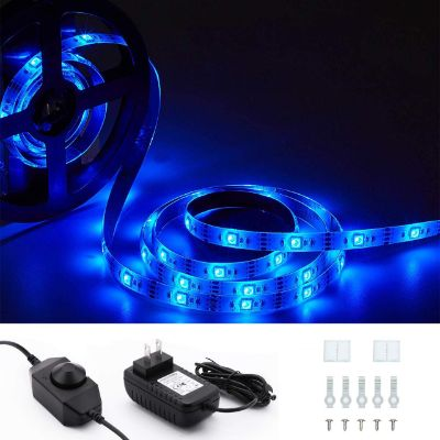 LED Strip Lights with Dimmer Metaku Waterproof Dimmable Tape Lighting