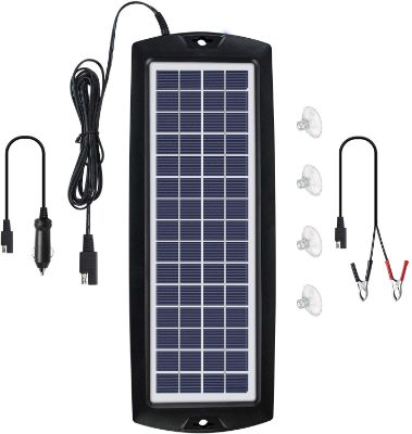 Sunway Solar Car Battery Trickle Charger & Maintainer 12V Solar Panel
