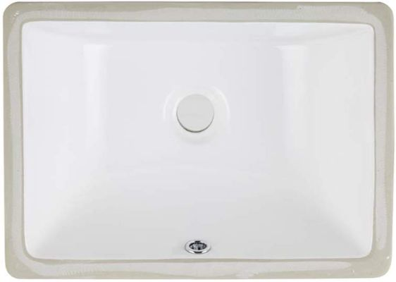AWESON Under-Mount Bathroom Sink 16x11 16-Inch by 11-Inch Rectangle Ceramic Undermount Vanity Sink