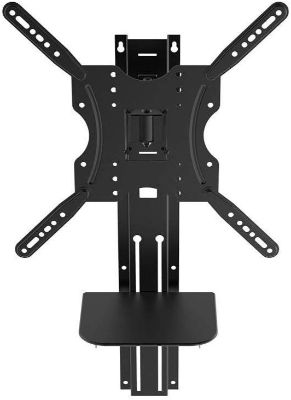 Full Motion Wall Mount Bracket with Height Adjustment Support Shelf