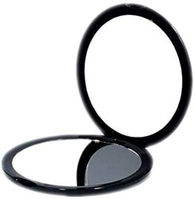 Magnifying Compact Cosmetic Mirror-DeWEISN Elegant Compact Pocket Makeup Mirror