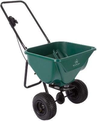 Pure Garden 50-LG1081 Lawn and Garden Spreader-66 Pound Capacity Walk Behind Rotary Broadcast Dispenser