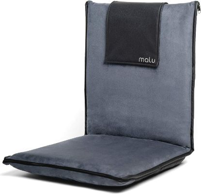 malu Luxury Padded Floor Chair with Back Support