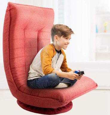 Floor Swivel Gaming Chair, 360 Degrees Adjustable Comfy Sofa Chair