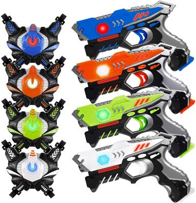 HISTOYE Infrared Laser Tag Guns Sets of 4 Players Game Laser Tag Sets
