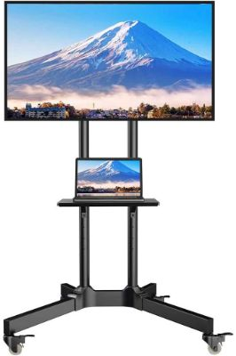 ORAF Rolling TV Cart Mobile TV Stand for 32 to 65 inch Height Adjustable