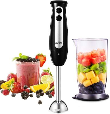 Immersion Blender, Yabano 2 in 1 Hand Blender Stick with 24oz Beaker