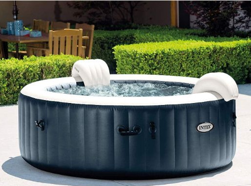 Intex PureSpa Plus Round 6 Person Portable Inflatable Hot Tub Spa
