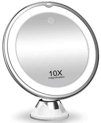 KOOLORBS New Version 10X Magnifying Makeup Mirror