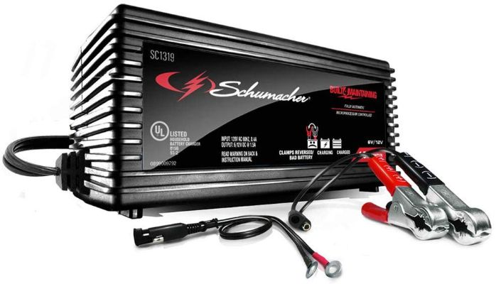 Schumacher SC1319 1.5A 6:12V Fully Automatic Battery Maintainer