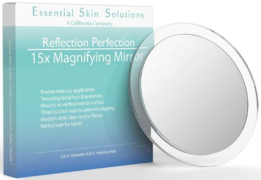 15X Magnifying Mirror – Use for Makeup Application