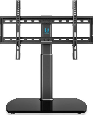 FITUEYES Universal TV Stand:Base Tabletop TV Stand with Wall Mount