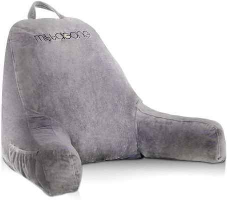 mittaGonG Backrest Reading Pillow with Arms Removable Cover