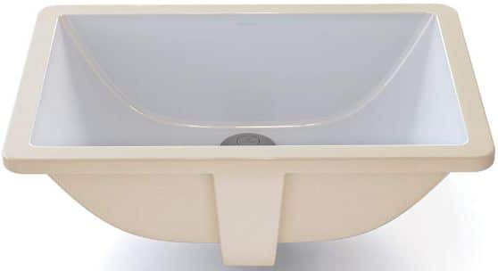 DECOLAV 1402-CWH Callensia Classically Redefined Rectangular Vitreous China Undermount Lavatory Sink