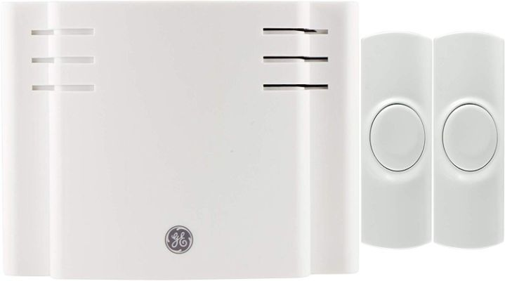 GE Wireless Doorbell Kit, 8 Melodies, 1, 2 Push Buttons