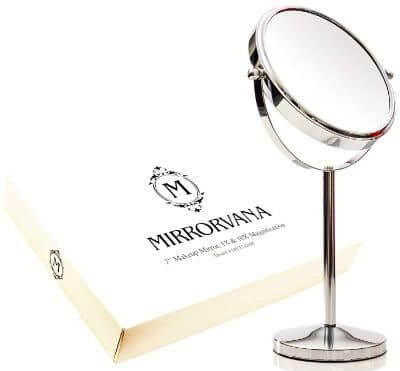 Mirrorvana 7-Inch Magnifying Makeup Mirror