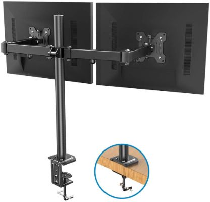 Dual Monitor Stand - Double Articulating Arm Monitor Desk Mount