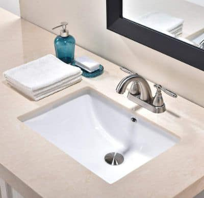 Friho 18.5''x13.8''x7.9'' Modern Sleek Rectangular Undermount Vanity Sink