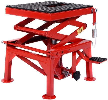 Goplus 300lb Motorcycle Lift Table Hydraulic Cycle Dirt Bike ATV Scissor Jack Lift