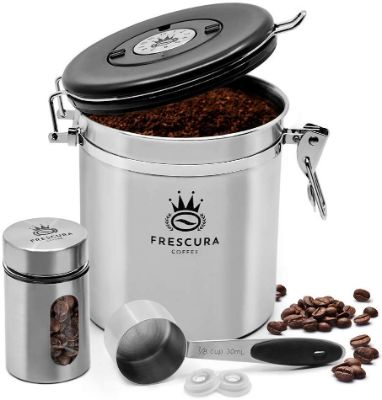 Frescura Coffee Airtight Coffee Canister Storage Container