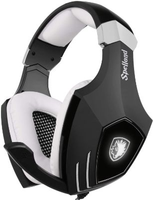 USB Gaming Headset-SADES A60:OMG Computer over Ear Stereo Headphones with Microphone